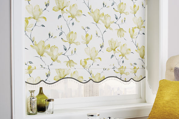 Finishing touches on roller blinds